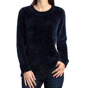 NWT Orvis Dress Blue Chenille Sweater - Small